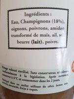 Velouté de Champignons - Ingredients