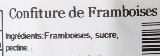 Confiture à l'ancienne Framboise - Ingredienti - fr