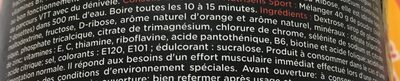 Booster VTT saveur orange - pêche - Ingrédients
