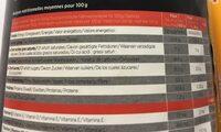 Booster VTT saveur orange - pêche - Informations nutritionnelles