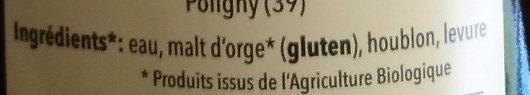 La Polinoise Blanche - Ingrédients