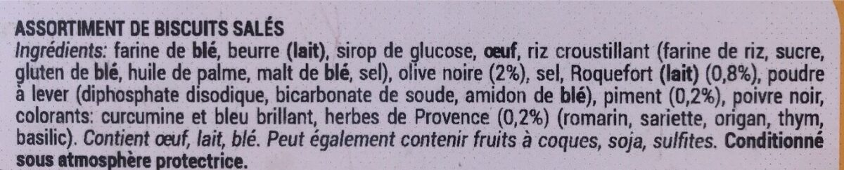 Assortiment de biscuits sales - Ingrédients - fr