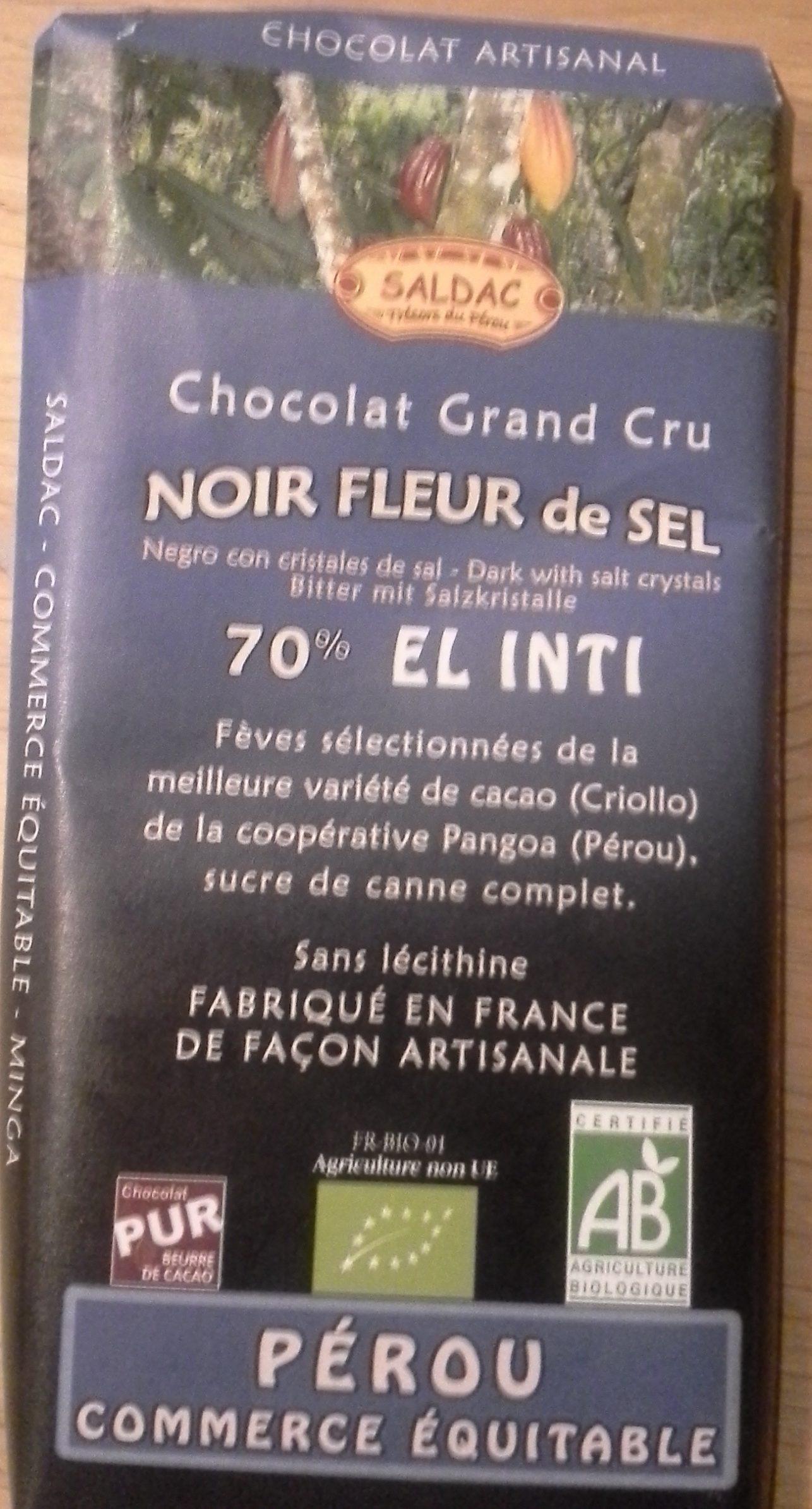 Chocolat Grand Cru, Noir Fleur de Sel - Produit