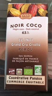 Chocolat noir coco - Product - fr