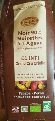 El Inti noir noisettes 90% - Product - fr