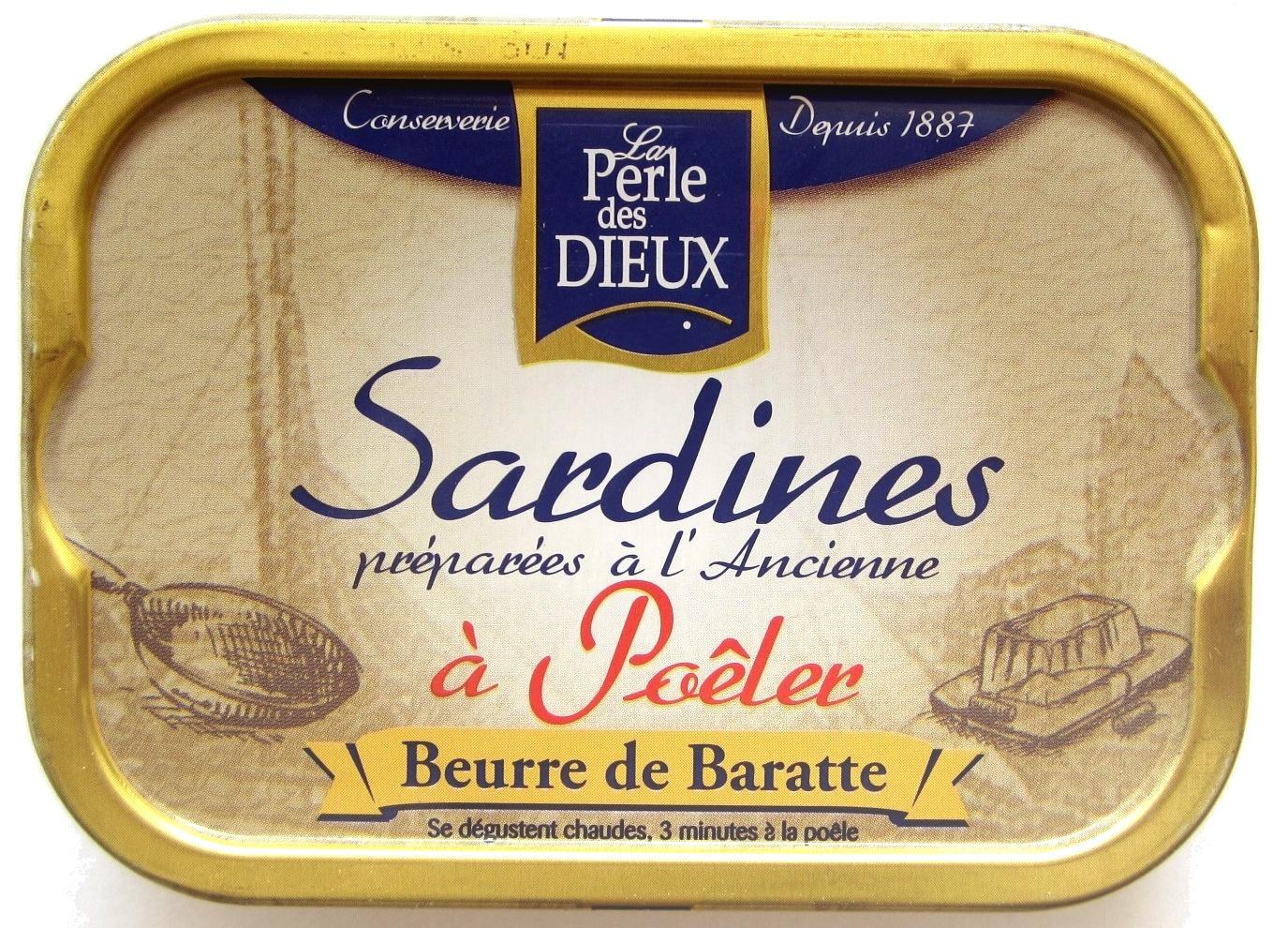 Sardines préparées à l'Ancienne à Poêler (Beurre de Baratte) - Produit - fr