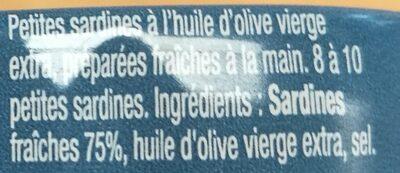 "Mini sardines ""Les petites fondantes"" - Ingrédients - fr"