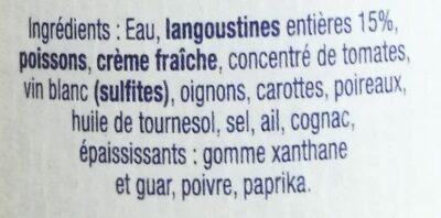 Bisque de langoustines - Ingrédients - fr