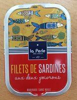 Filets de sardines sans huile aux 2 poivrons - Produit - fr