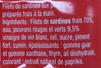 Filets de sardines sans huile aux 2 poivrons - Ingrédients - fr