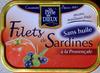 Filets de Sardine (à la Provençale, Sans huile) - Produit