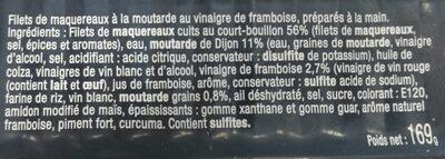 Filets de maquereaux à la moutarde et vinaigre de framboise - Ingrédients - fr