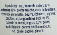 Bisque de Homard au cognac - Ingrédients - fr