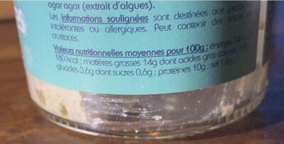 Noix de pétoncles à la bretonne - Informations nutritionnelles - fr