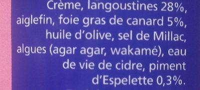 Langoustines au foie gras et piment d'Espelette - Ingrédients
