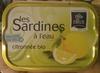 Les Sardines à l'eau citronnée bio - Produit
