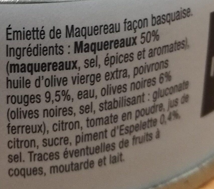 Emietté de Maquereau façon Basquaise - Ingrédients - fr