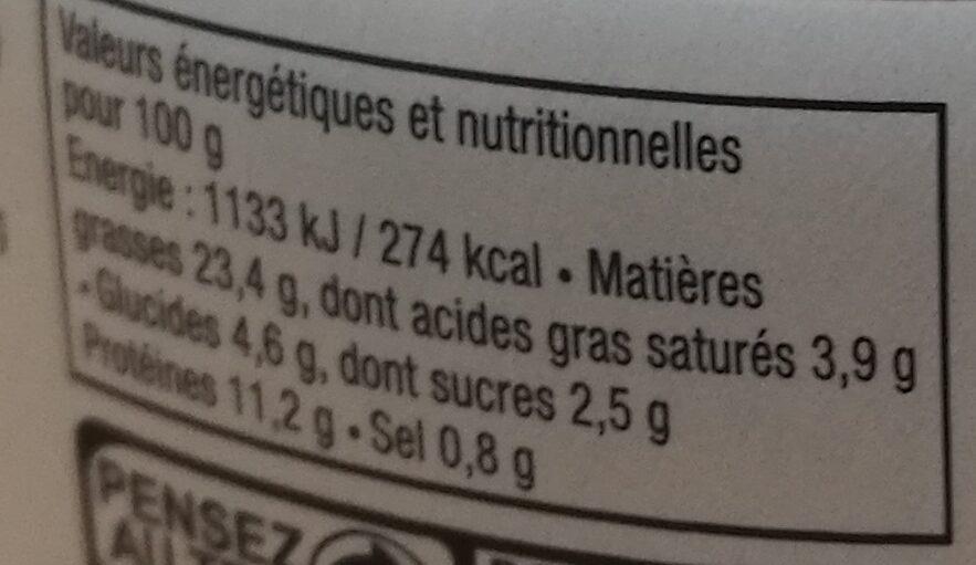 Emietté de Maquereau façon Basquaise - Informations nutritionnelles - fr