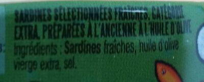 """Sardines Millésimées 2019 """"Le cabaret de Lulu"""" - Ingrédients - fr"""