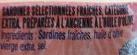 Sardines millésimées 2019 - Ingrédients - fr