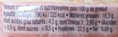 Sardines millésimées 2019 - Informations nutritionnelles - fr