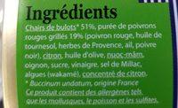 Tapas de petits bulots, piments doux et condiments d'Orient - Ingredients - fr