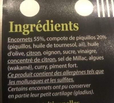 Tapas de calamars - Ingrédients - fr