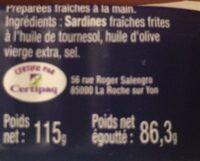 Sardine - Ingrédients - fr