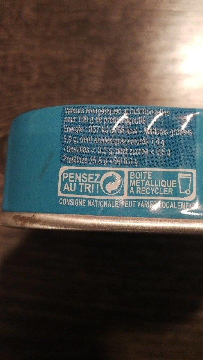 Sardines sans arêtes - Informations nutritionnelles - fr