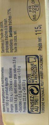 Sardines à l'huile de colza - 2
