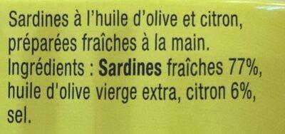 Sardines citron frais - Ingrédients - fr