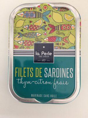 Filets de sardines sans huile thym et citron frais - 1