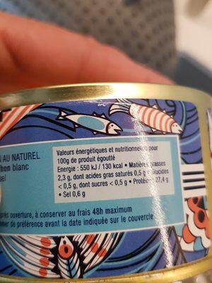Thon Germinal au naturel - Ingrédients - fr