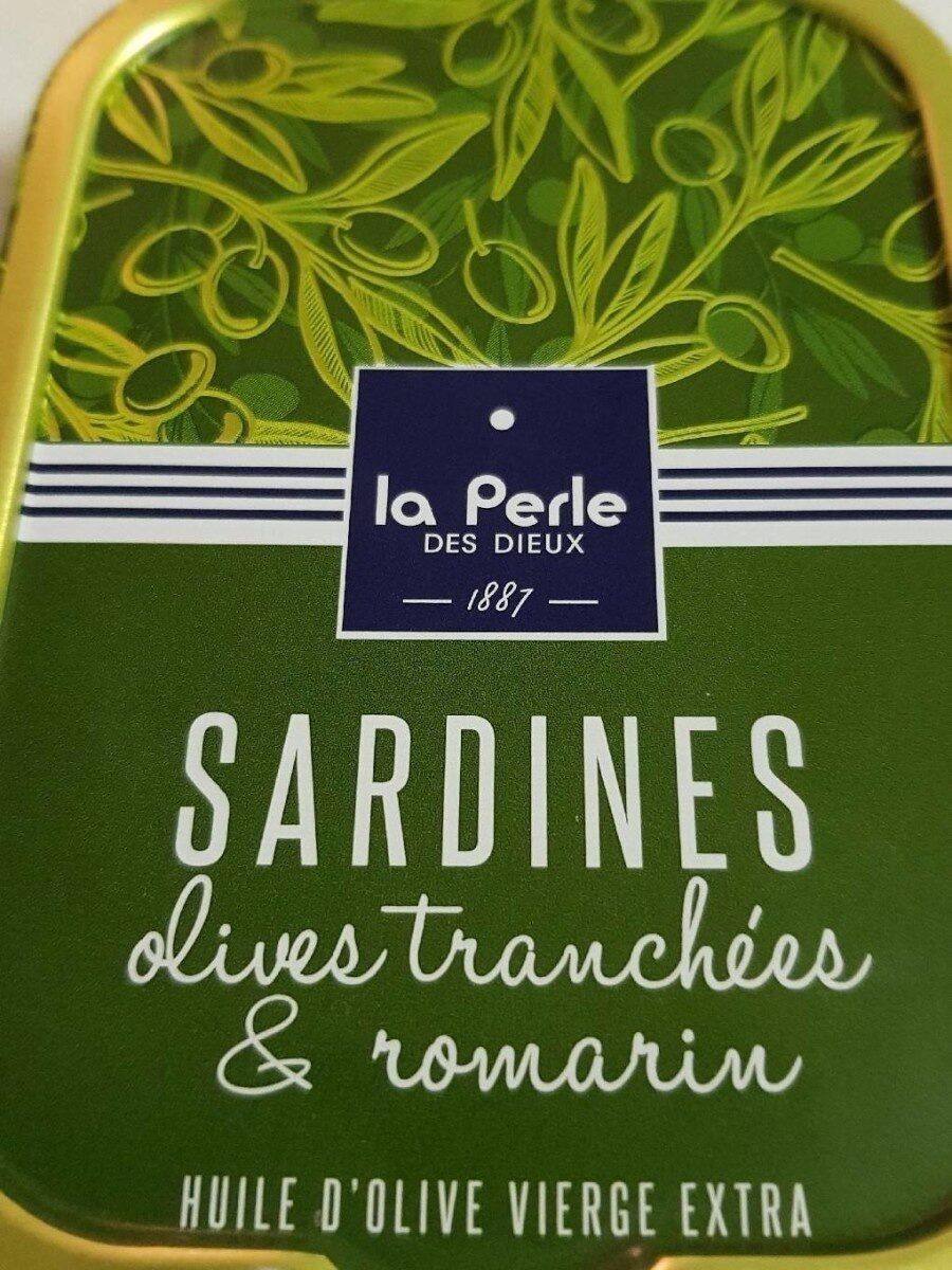 Sardines olives tranchées et romarin - Produit - fr