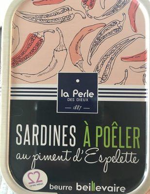 Sardines a poêler au piment d'espelette - Produit - fr
