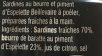 Sardines a poêler au piment d'espelette - Ingrédients - fr