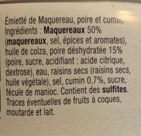 Emiette maquereau poire cumin - Ingrédients - fr