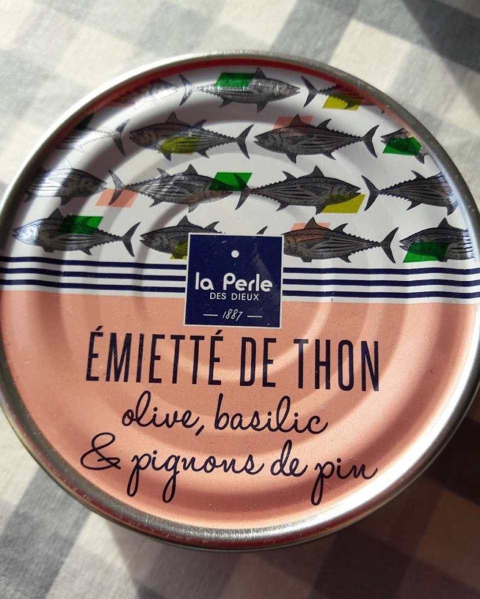 Emietté de thon, olive, basilic et pignons de pin - Produit - fr