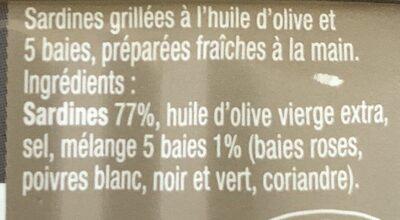 Sardines grillées aux cinq baies - Ingrédients - fr