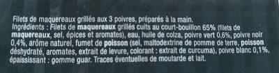 Maquereaux grillés aux 3 poivres - Ingrédients - fr