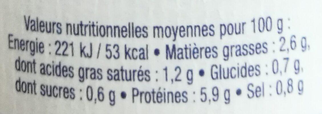 L'irresistible bisque de langoustines - Informations nutritionnelles - fr