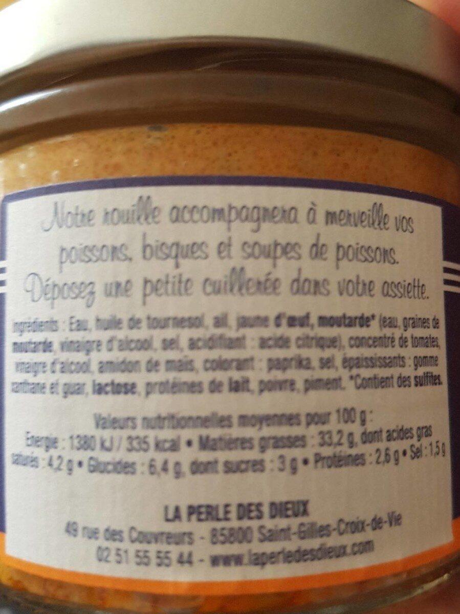 Rouille l'incontournable - Informations nutritionnelles - fr