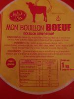Bouillon Granulé Boeuf Halal - Ingrediënten - fr