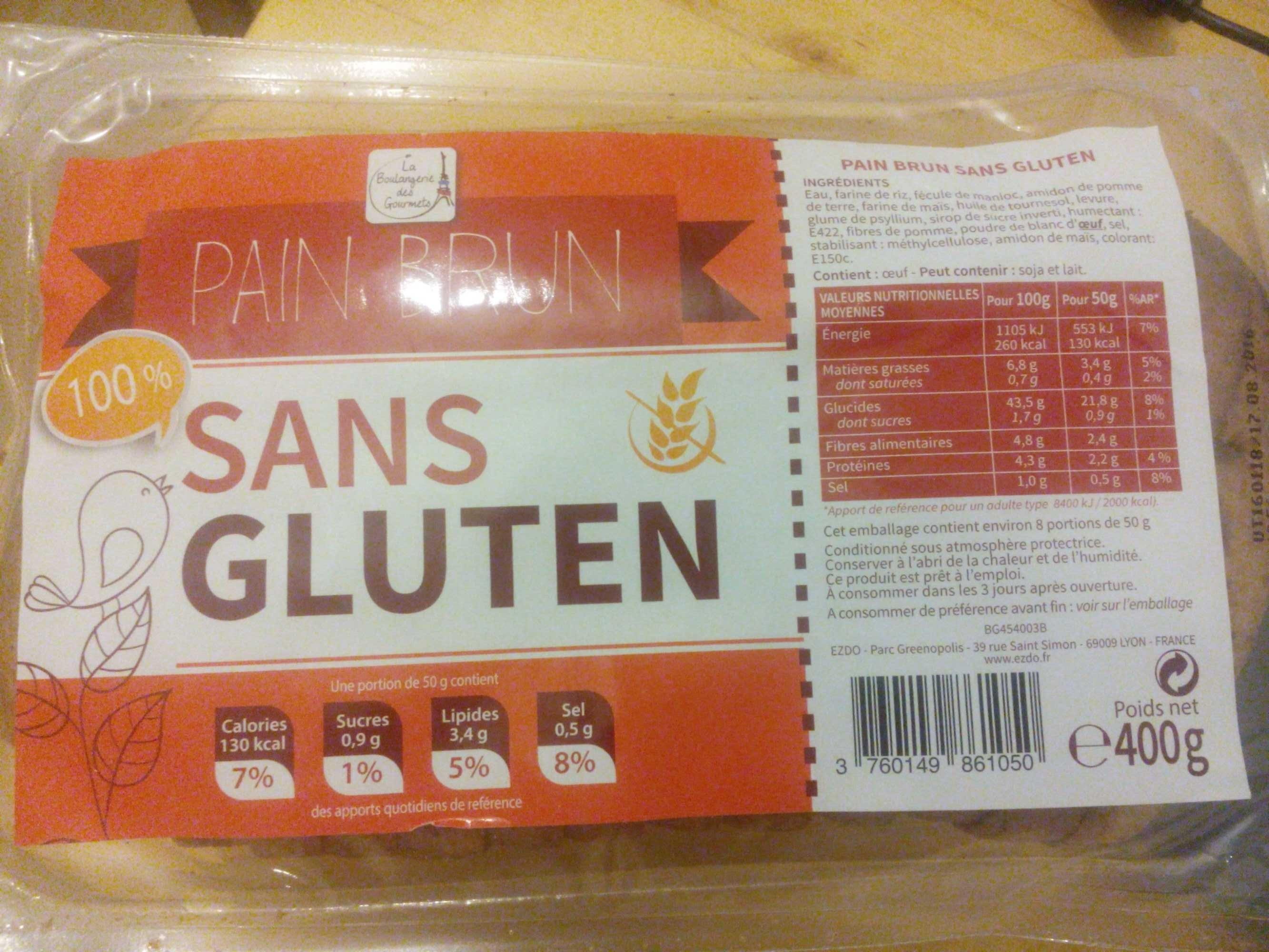pain brun sans gluten - Product