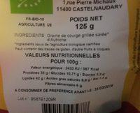 Graines de courge grillées salées - Ingrédients - fr