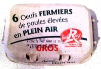 6 oeufs fermiers de poules élevées en plein air, GROS - Product - fr
