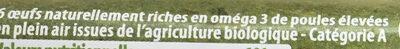 Gros oeufs bio - Ingrediënten - fr