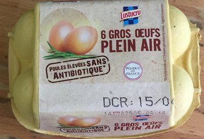 6 gros oeufs plein air - Product - fr
