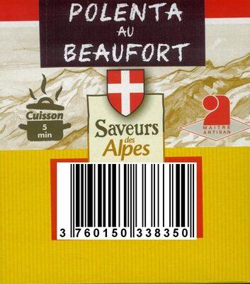 POLENTA AU BEAUFORT - Produit