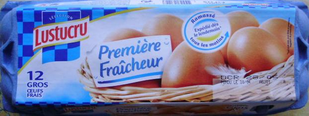 Oeufs frais (x 12) calibre Gros Première Fraîcheur - Lustucru - Product - fr